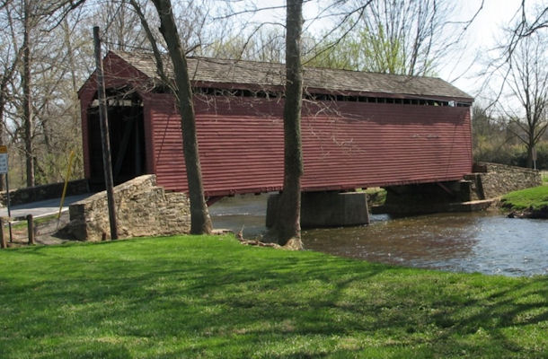 Frederick County Maryland covered bridge bike route